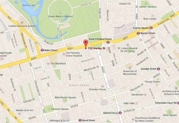 152 Harley Street Hospital location map